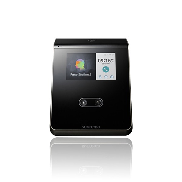 (설치비포함상품)FaceStation2 얼굴 안면인식기 지문인식기 카드전용 유리문 방화문 자동문 사무실 출입통제장치 출입통제시스템